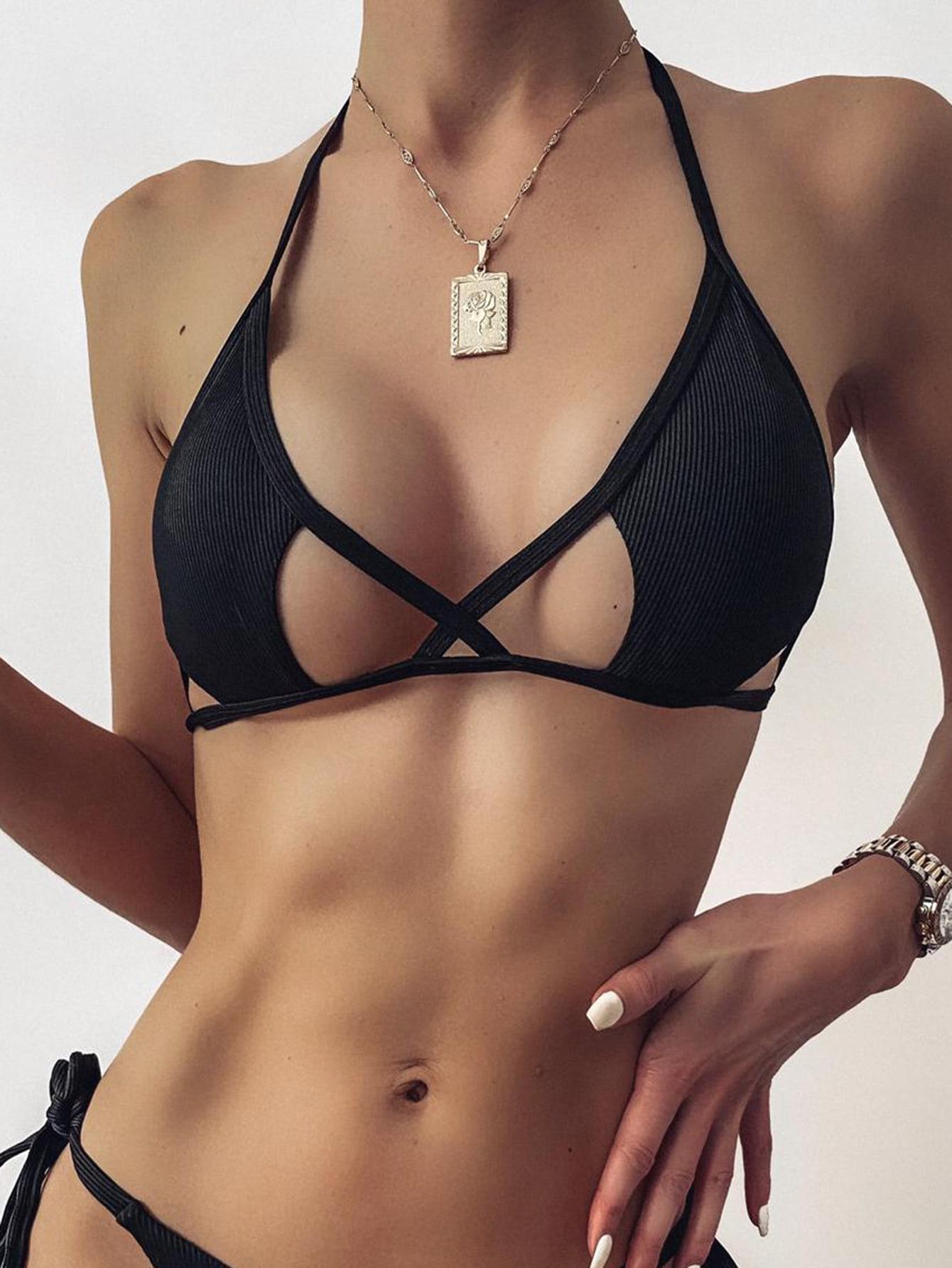 Cut Out Halter Bikini Top thumbnail