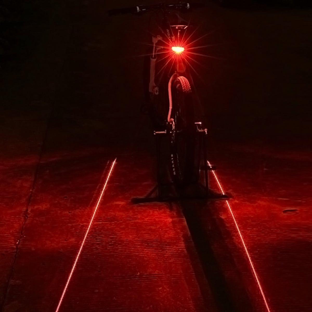 1 Stück Fahrrad Laser Rücklicht