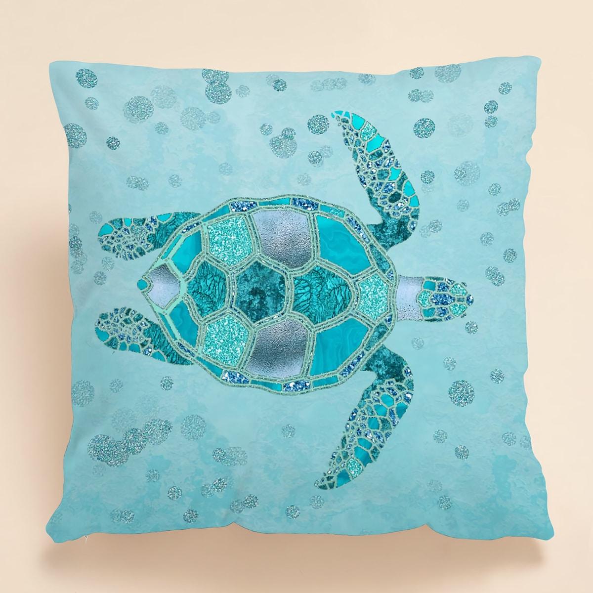 Kissenbezug mit Meeresschildkröte Muster ohne Füllstoff