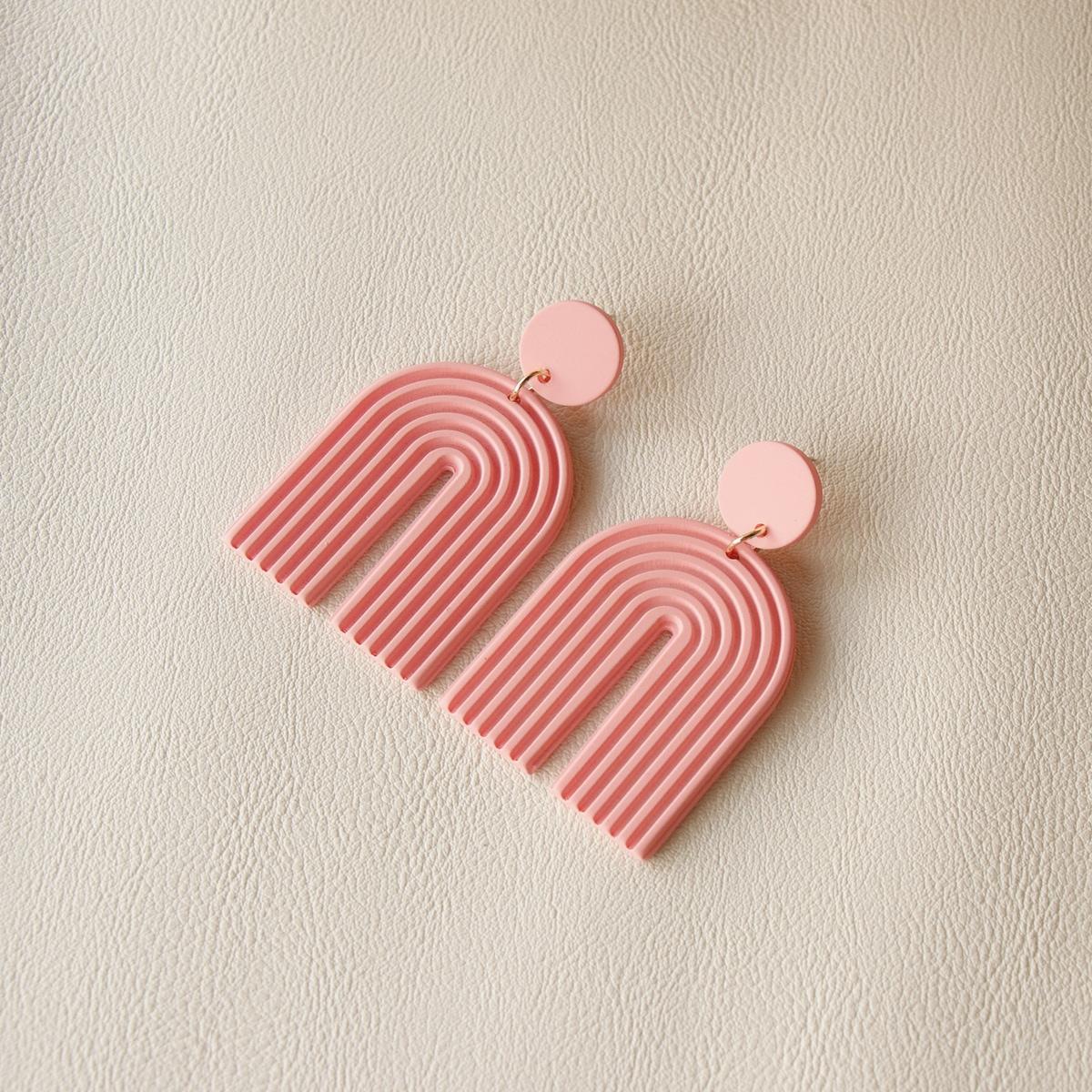 Acrylic U Shaped Drop Earrings, SHEIN  - buy with discount