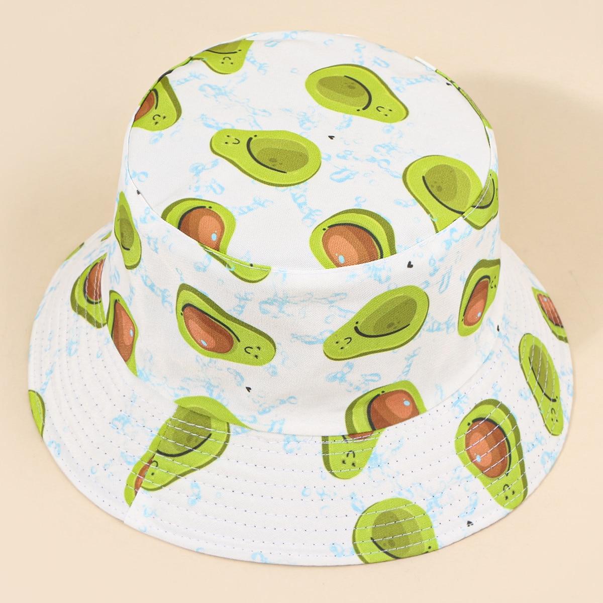 Шляпа с принтом фруктов