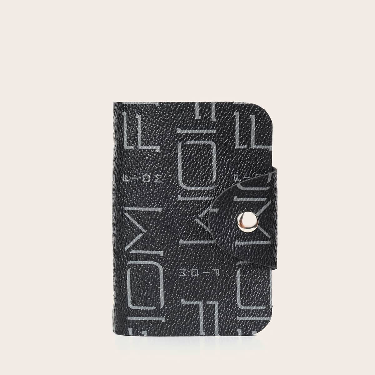 Snap Button Graphic Card Holder