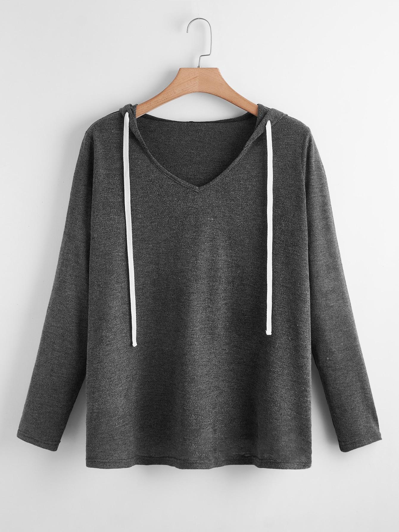 Plus Drawstring Hooded Sweatshirt thumbnail