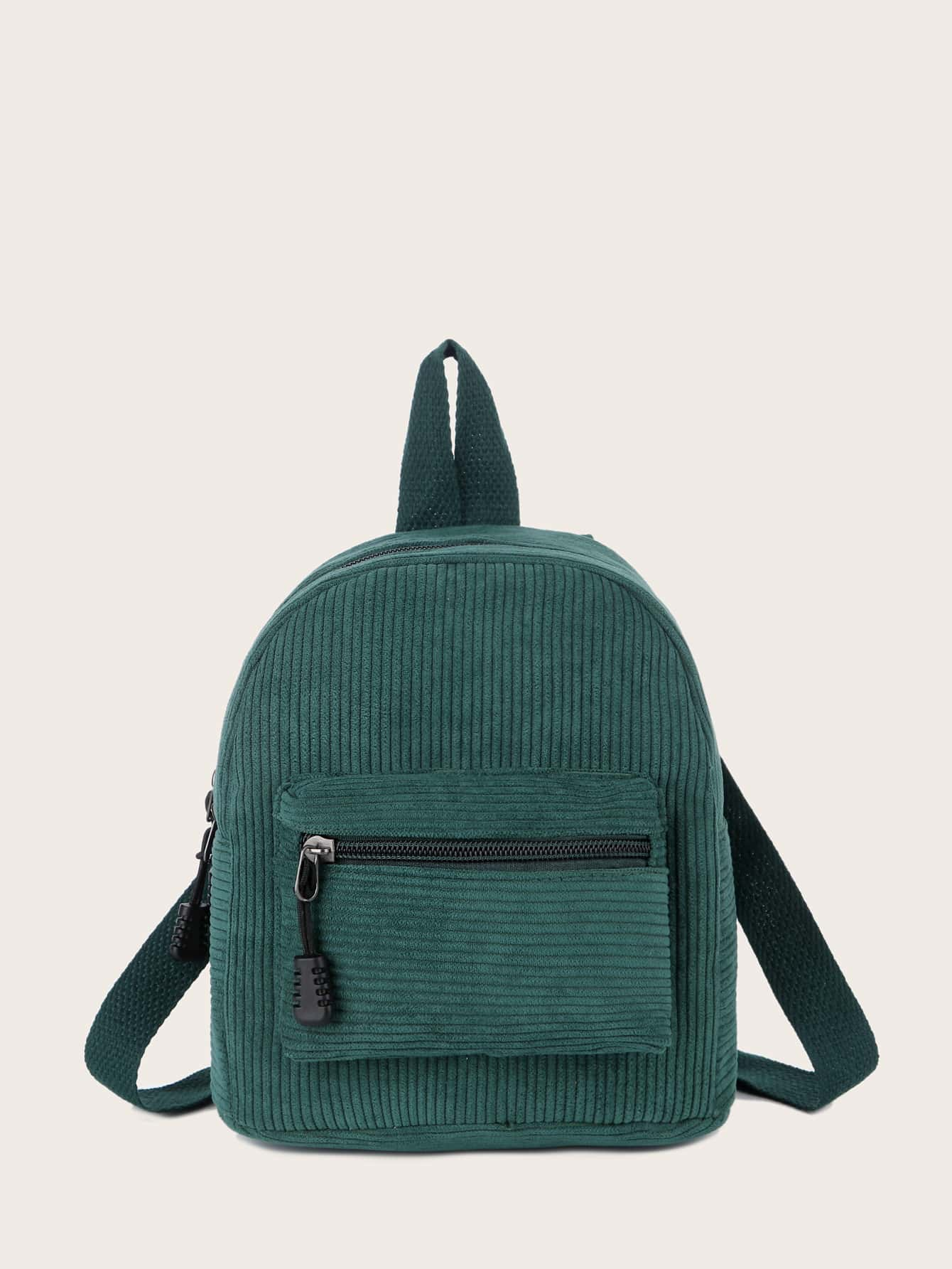 Pocket Front Corduroy Backpack thumbnail