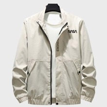 Guys Letter Graphic Zip-up Jacket
