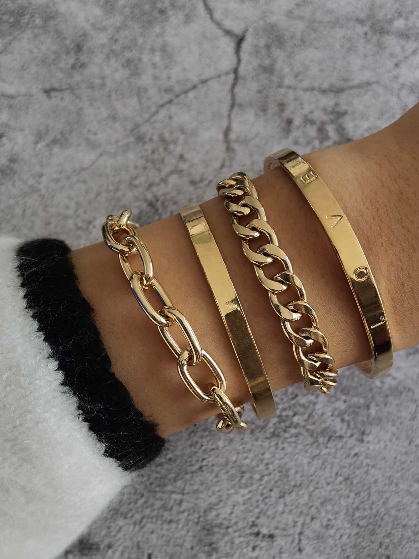 4pcs Letter Detail Bracelet thumbnail