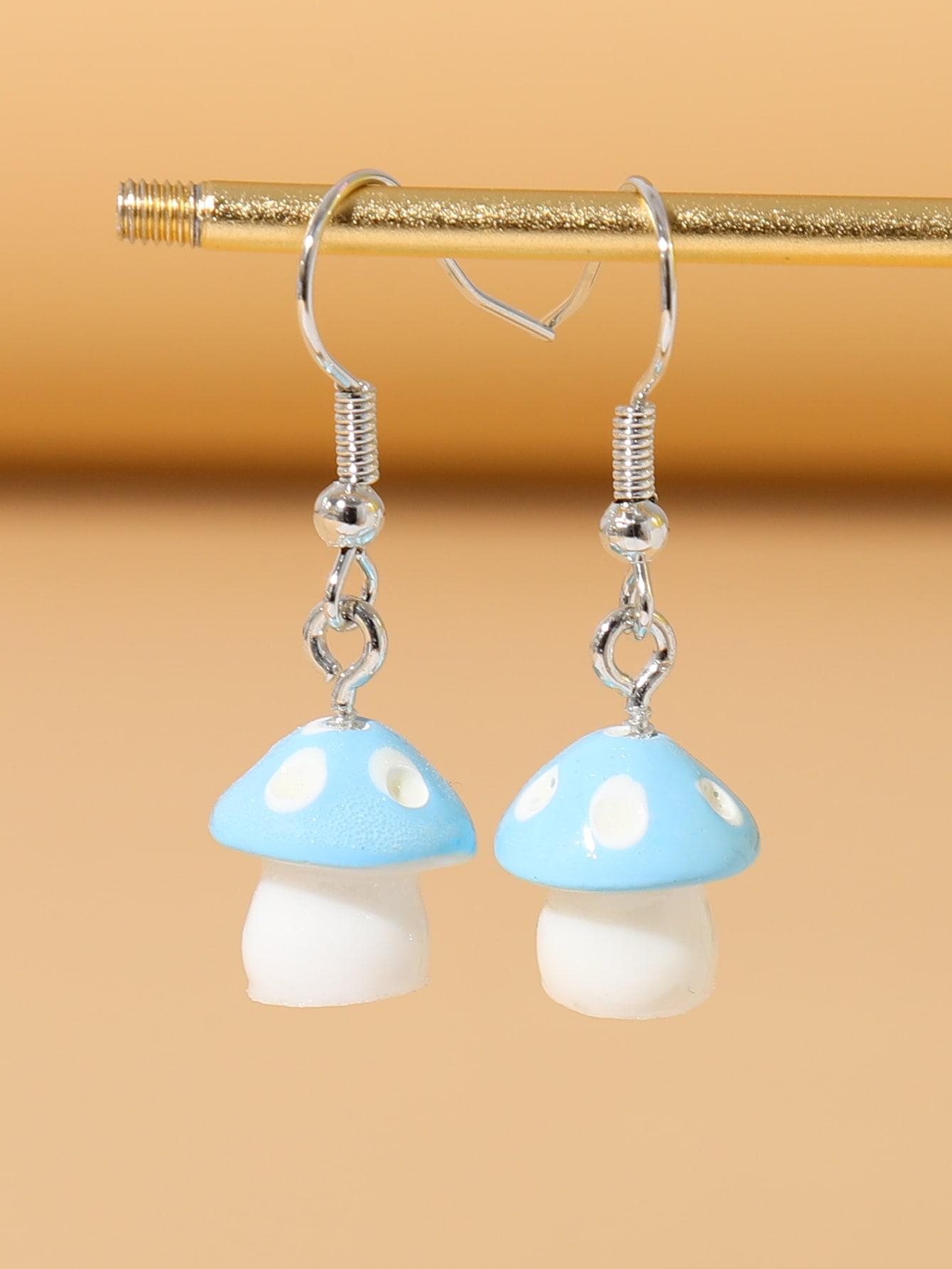 Mushroom Design Drop Earrings thumbnail
