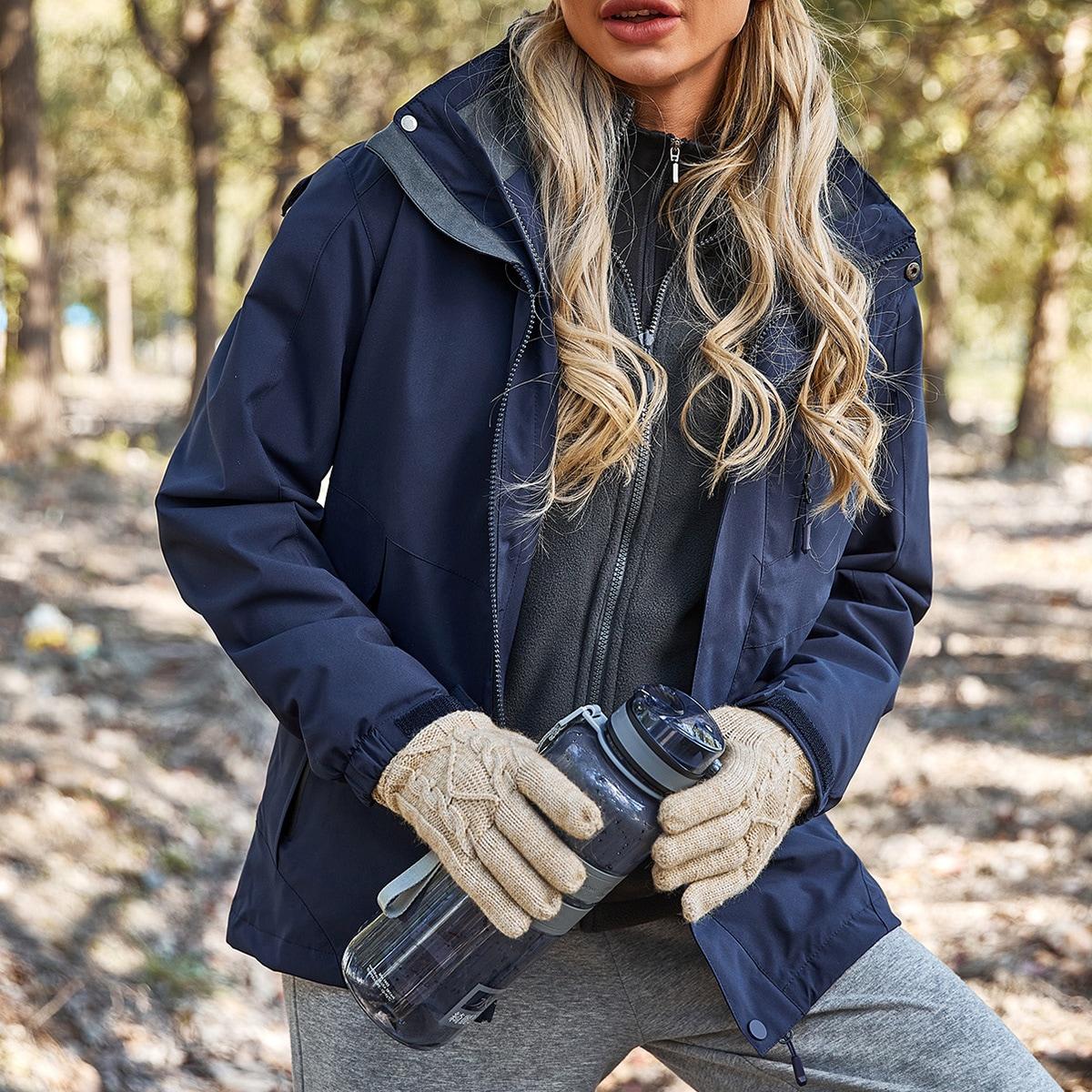 Спортивная куртка со съемной флисовой подкладкой и капюшоном