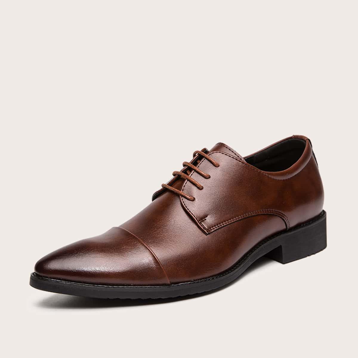 Мужские остроконечные официальные туфли