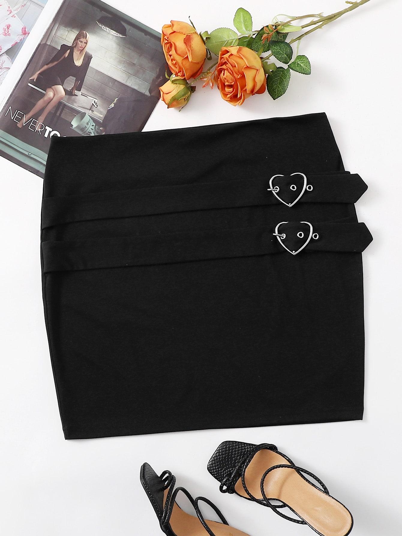 Plus Garment Eyelets Mini Skirt thumbnail