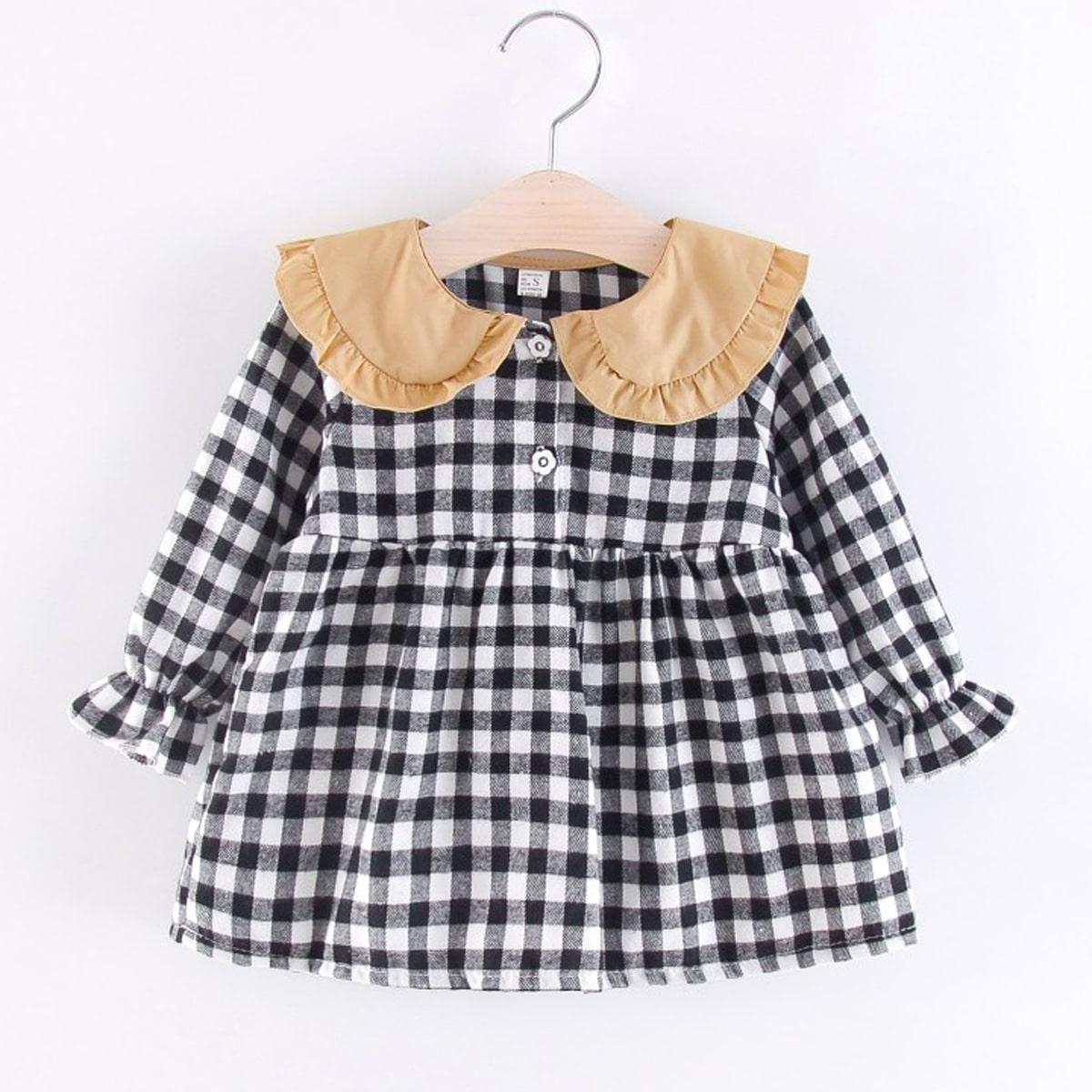 Оборка клетка институтский блузы для девочек