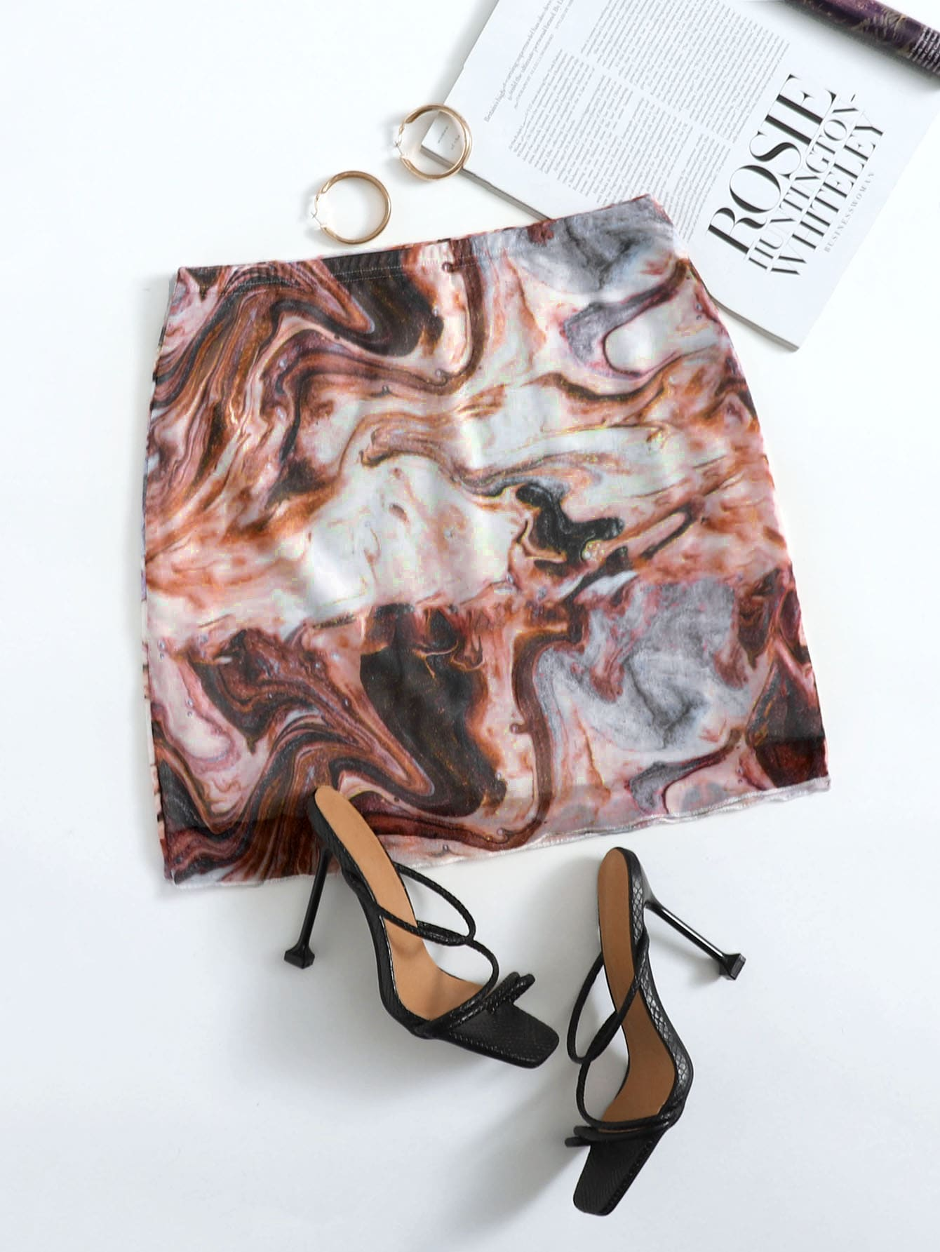 Marble Print Mini Skirt thumbnail