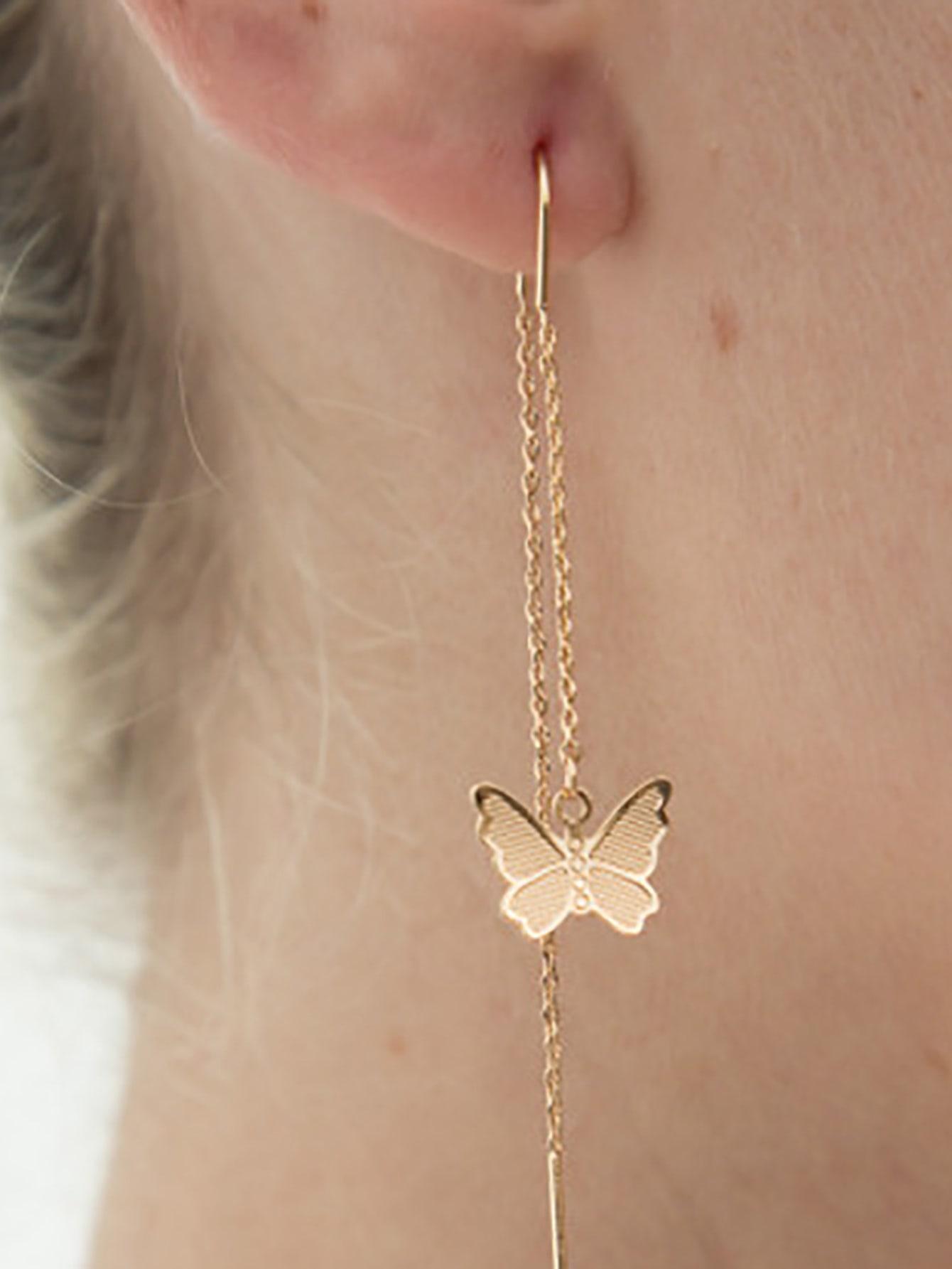 Butterfly Decor Drop Earrings thumbnail