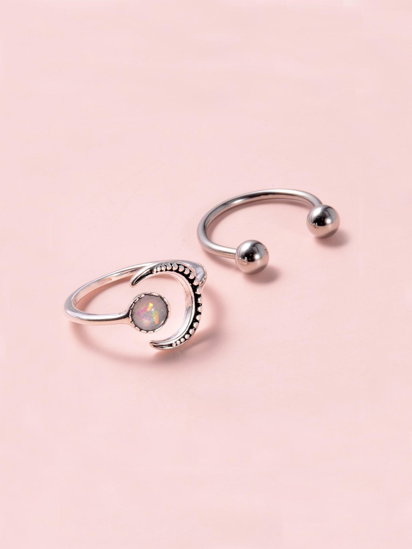 2pcs Moon Design Ring thumbnail