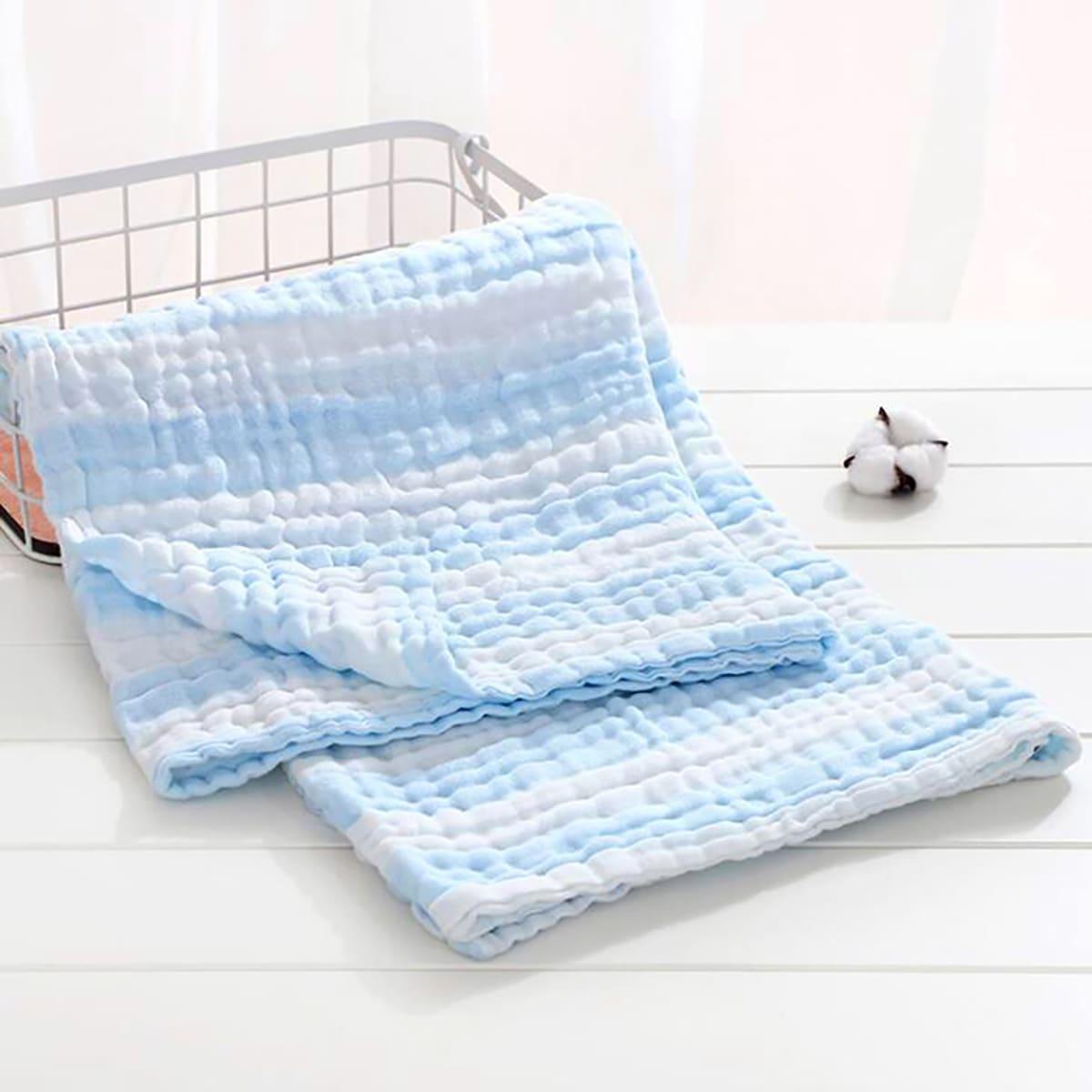 Детское двухцветное одеяло в полоску