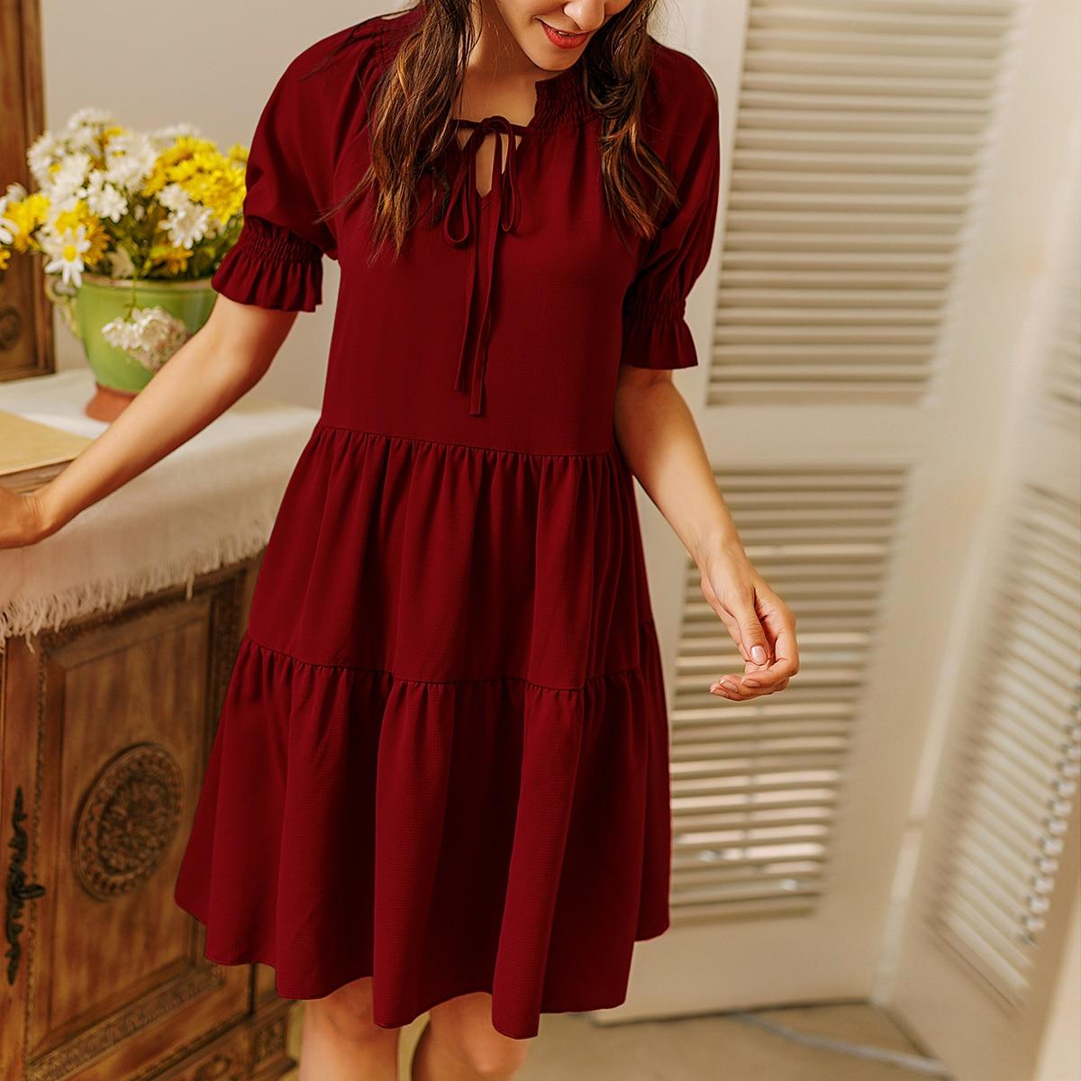 Платье с воротником-бантом SheIn swdress23201218978