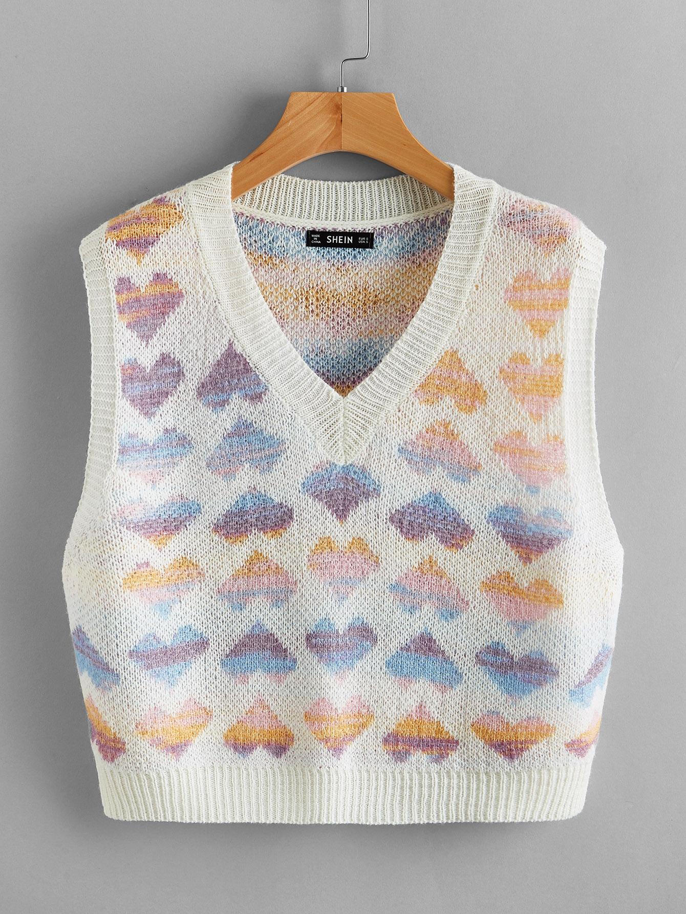 Heart Pattern Sweater Vest thumbnail