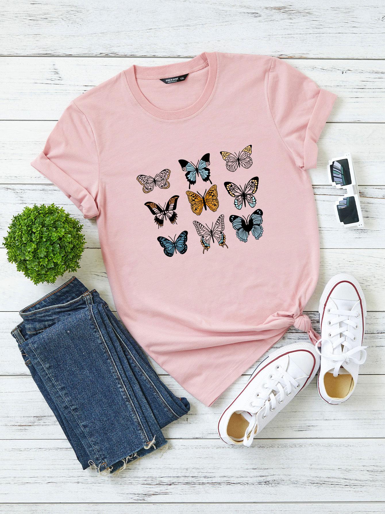Plus Butterfly Print Tee thumbnail
