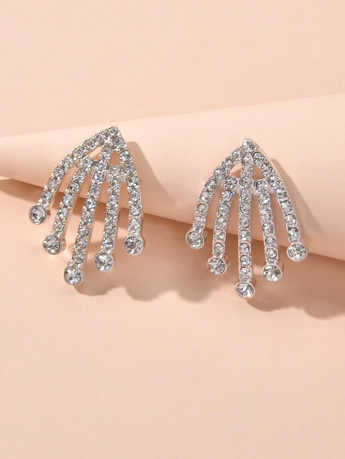 Rhinestone Decor Earrings thumbnail
