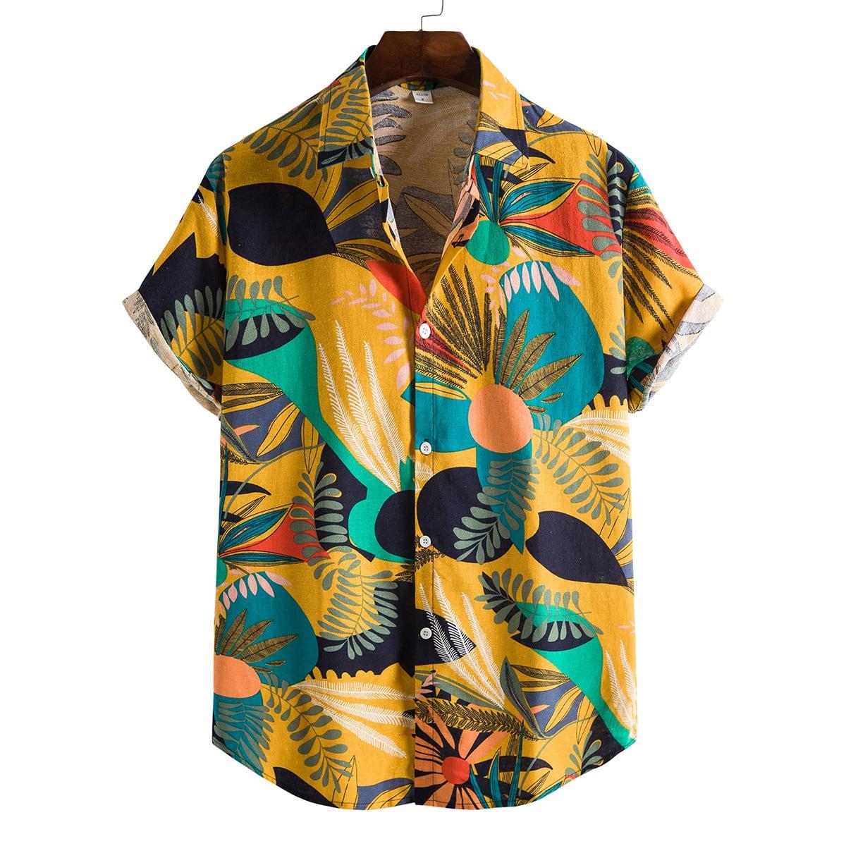 Пуговица Растения Отпуск Мужские рубашки по цене 990