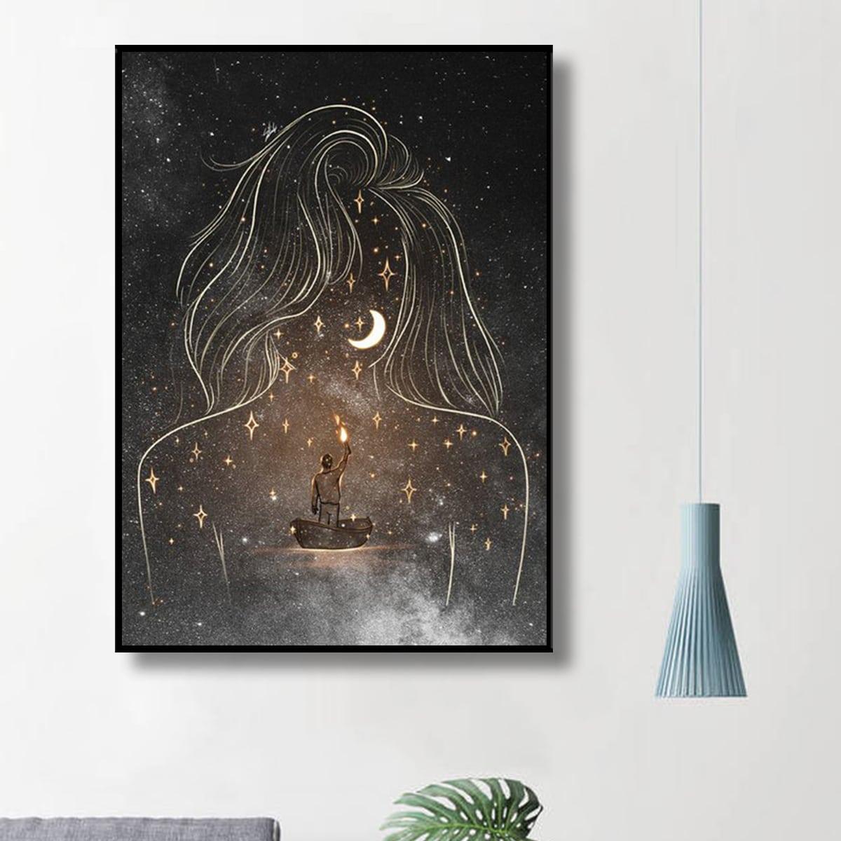 DIY Diamand Malerei mit Stern Muster ohne Rahmen