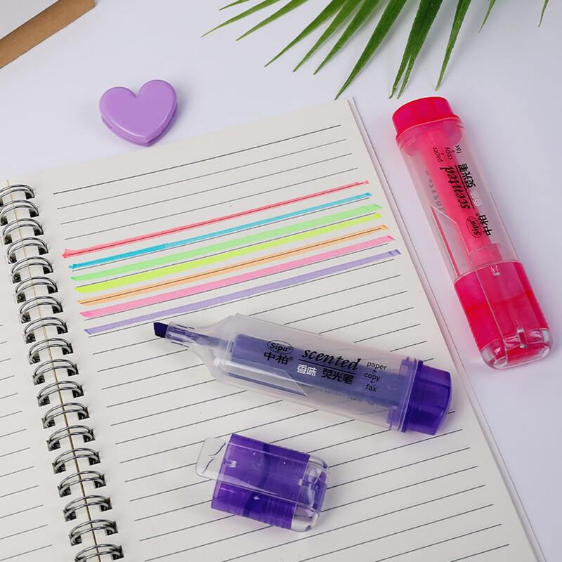 1pc Random Color Highlighter Pen, Multicolor