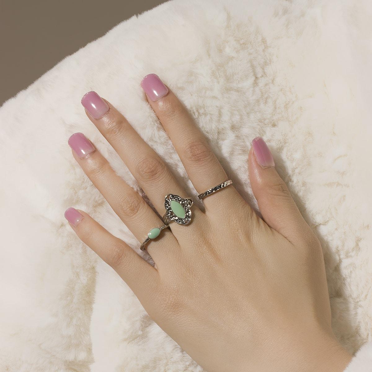 3шт кольцо в геометрической форме