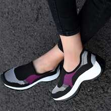 Low Top Knit Sneakers