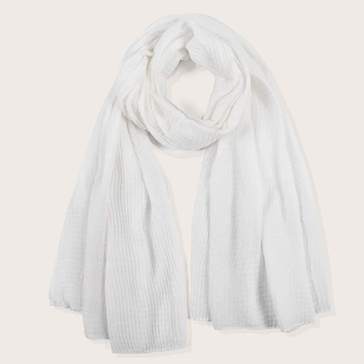simple plain crumpled scarf