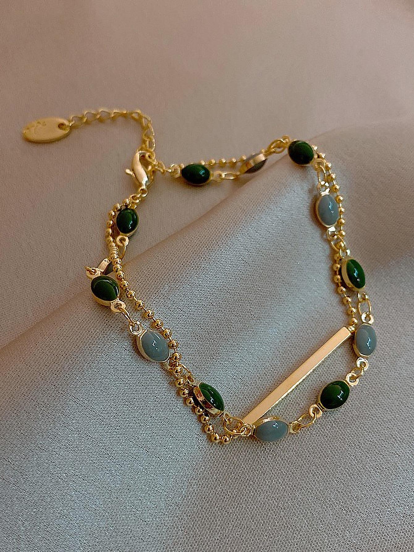 Stone Decor Chain Bracelet thumbnail