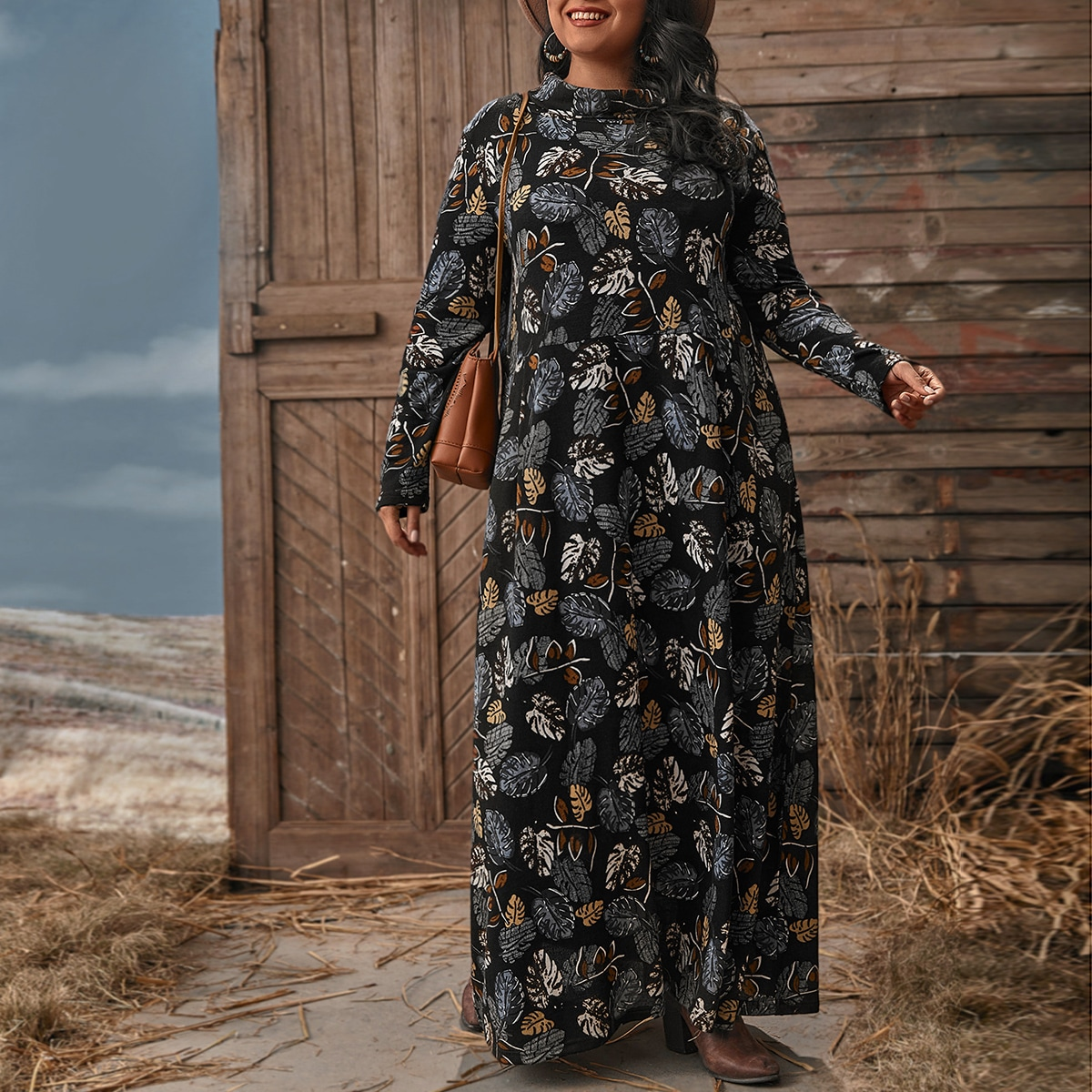 Тропический Скромный Платья размер плюс