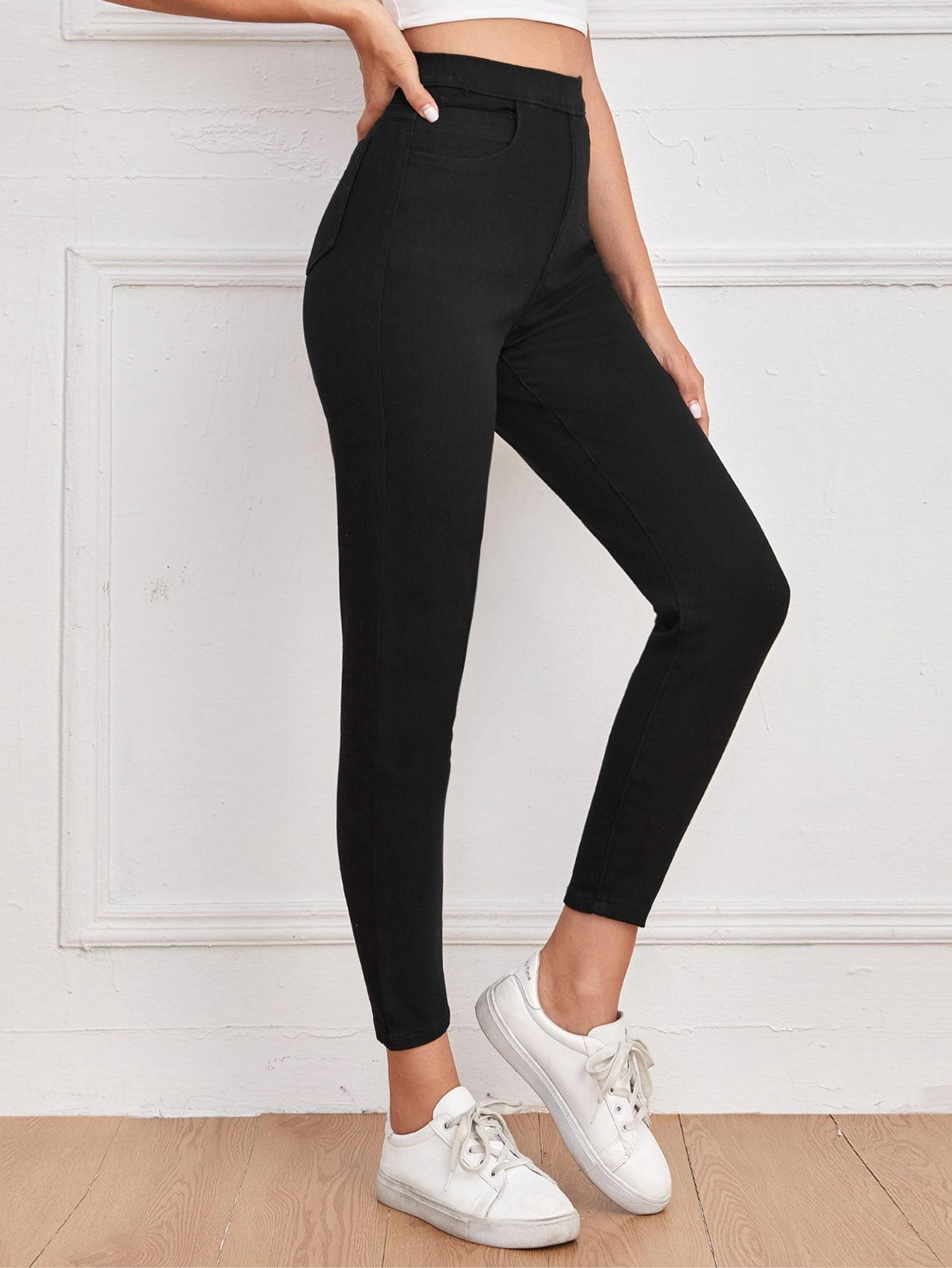 High Waist Skinny Crop Jeans thumbnail