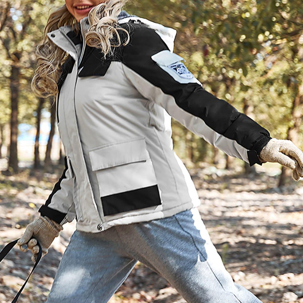 Водонепроницаемая куртка с капюшоном на флисовой подкладке