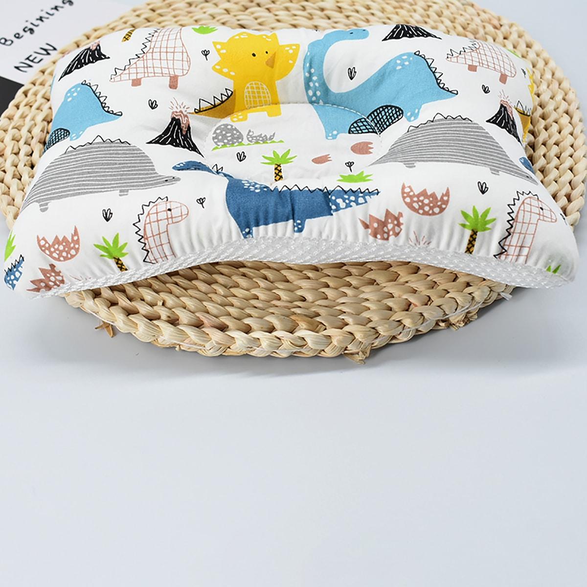 Детская подушка с принтом динозавра