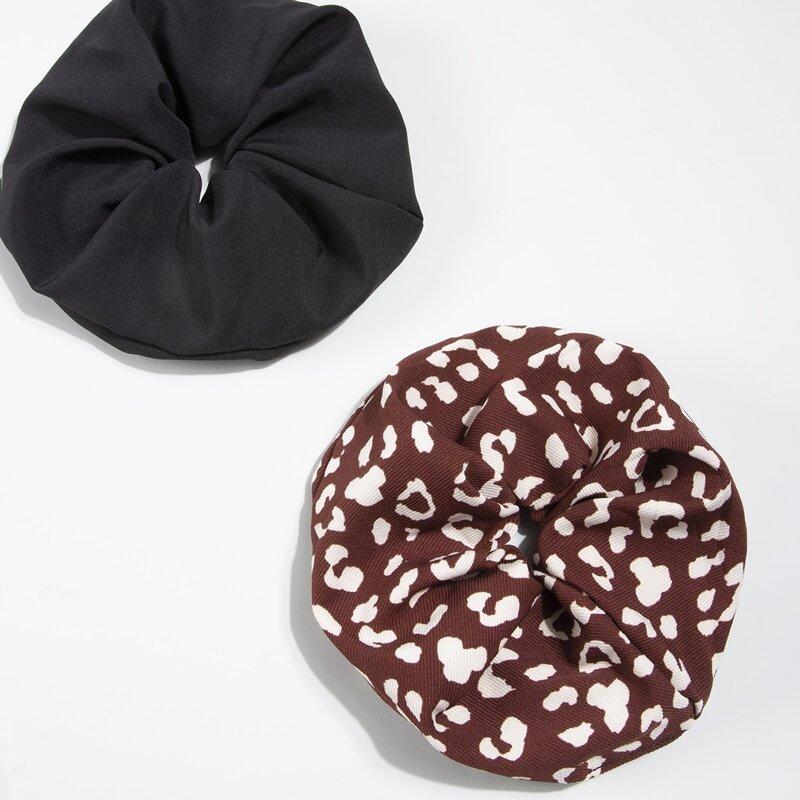 2pcs Simple Elastic Scrunchie, Multicolor