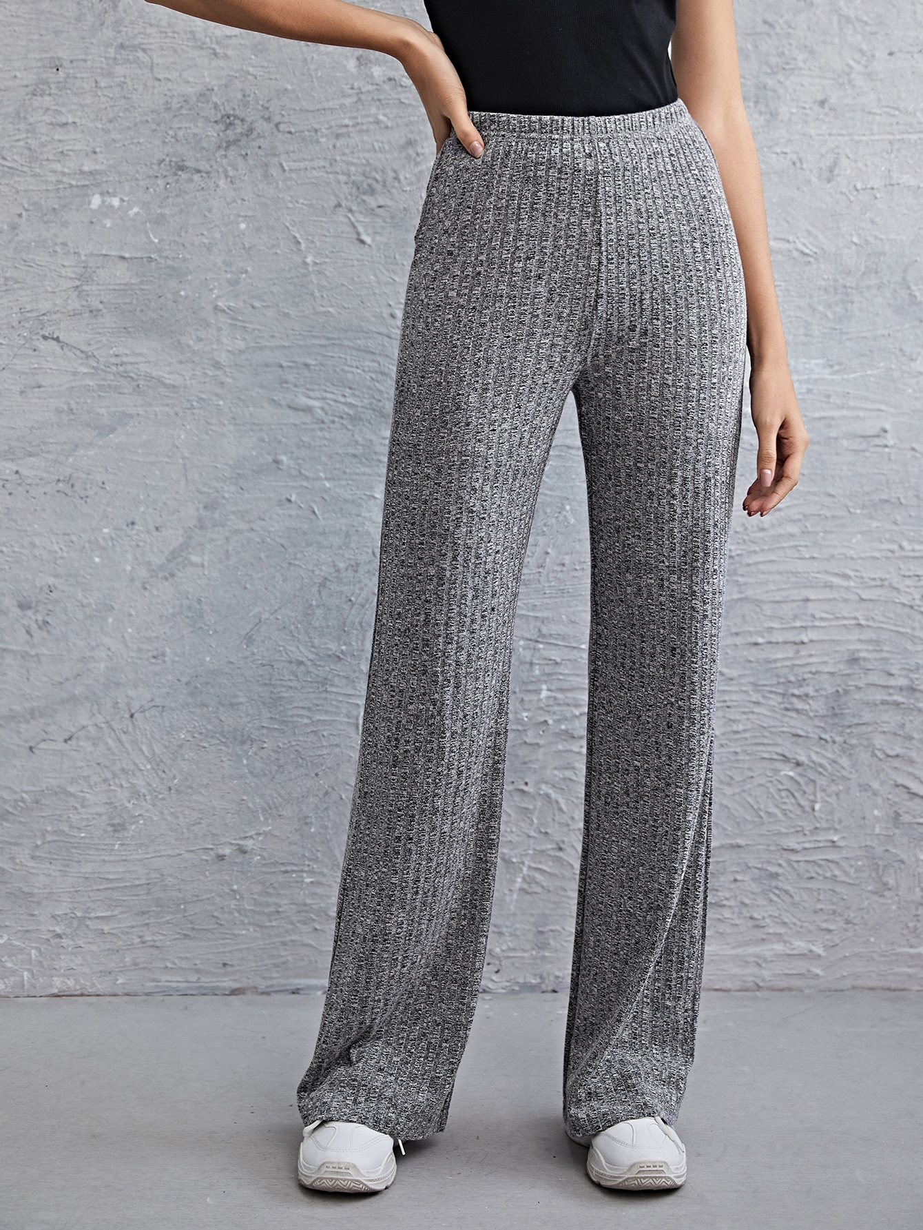 Rib-knit Straight Leg Pants thumbnail