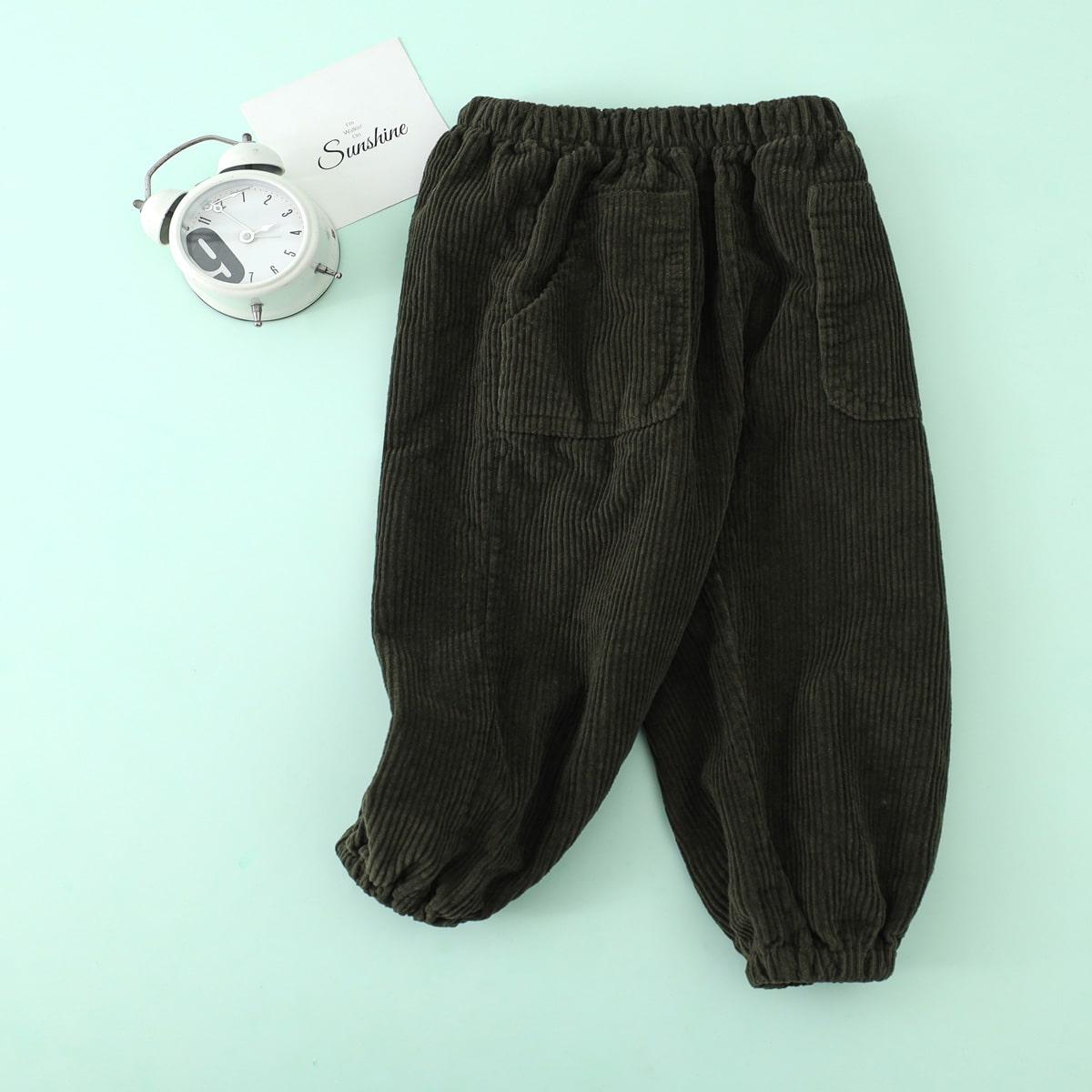 Карман одноцветный повседневный брюки для мальчиков