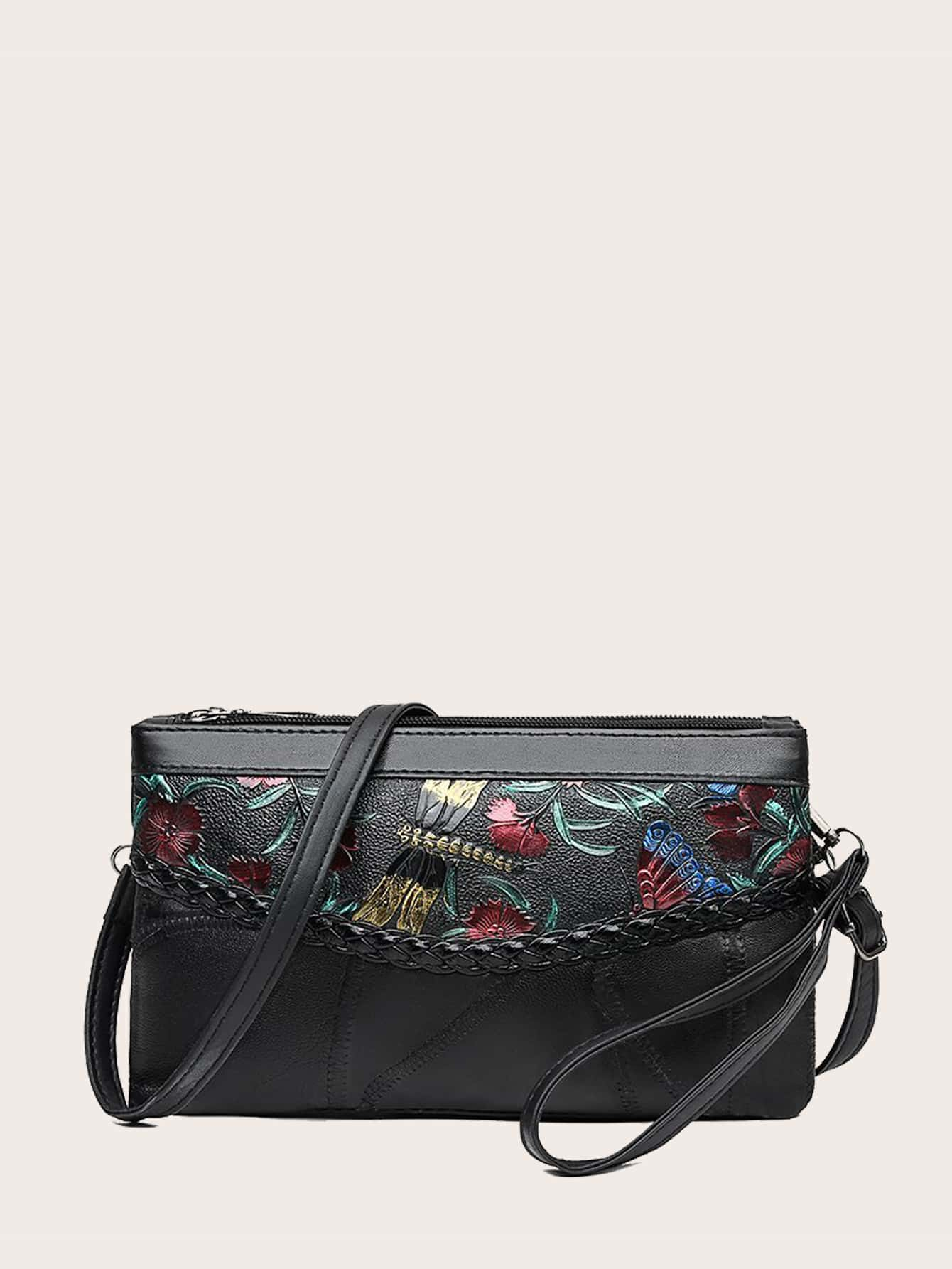 Floral Embossed Clutch Bag thumbnail