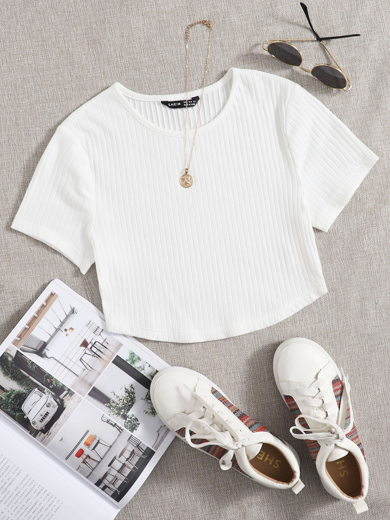 Rib-knit Crop Top thumbnail