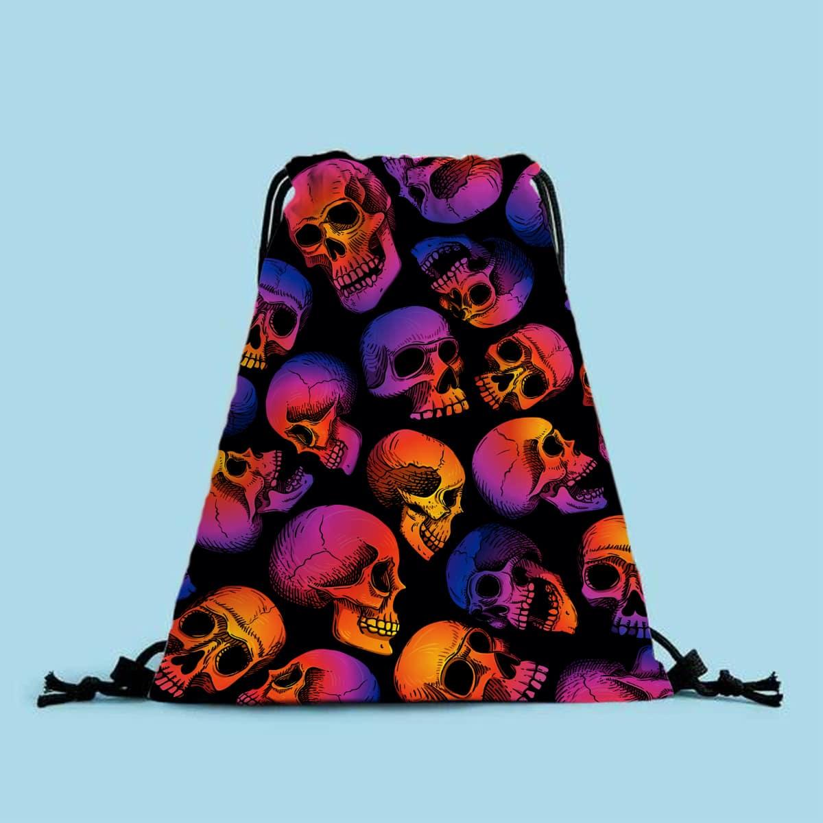 Рюкзак на кулиске с принтом черепа