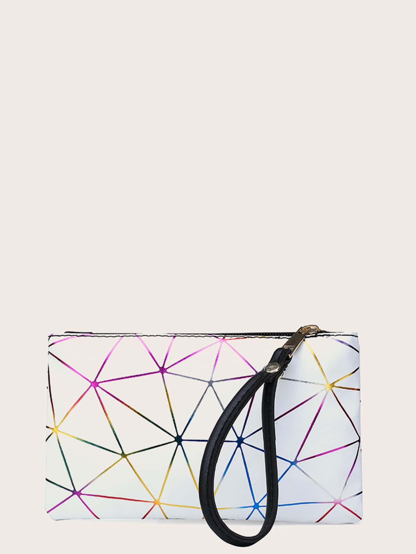 Geometric Graphic Clutch Bag With Wristlet thumbnail