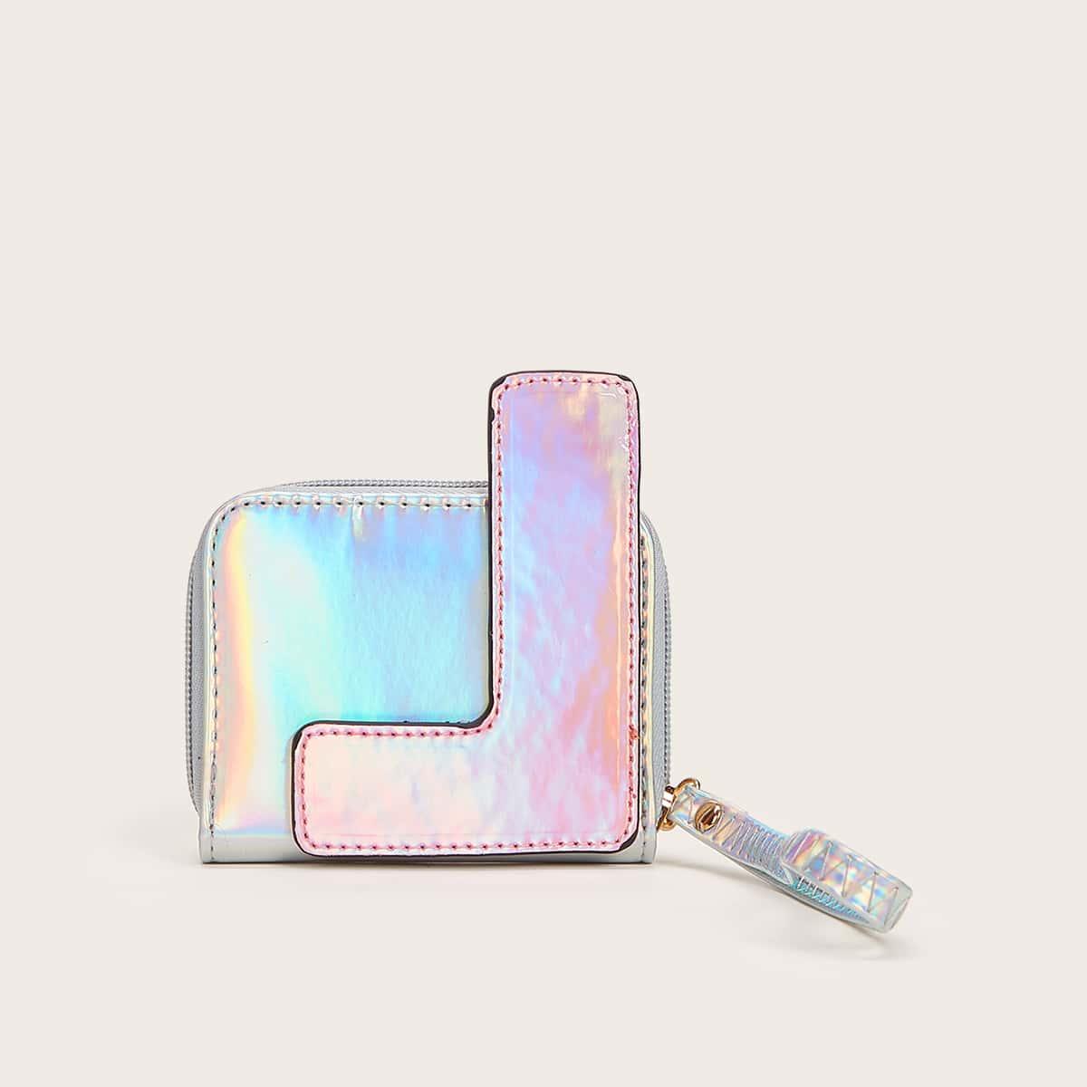 shein Holografische kleine portemonnee