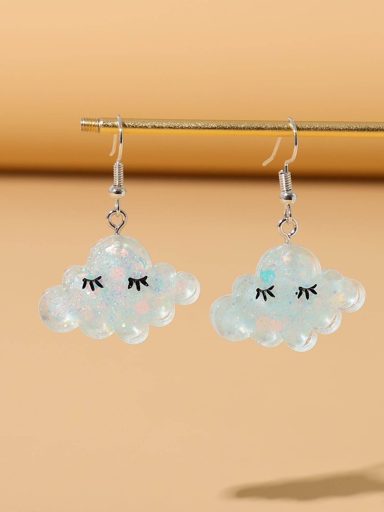 Acrylic Cloud Drop Earrings thumbnail