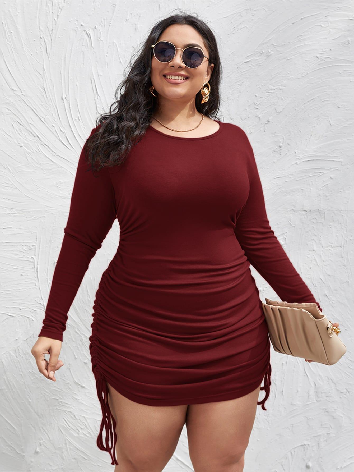 Plus Drawstring Ruched Side Dress thumbnail