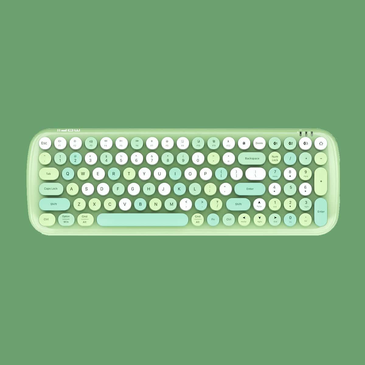 Drahtlose Tastatur mit rundem Schlüssel