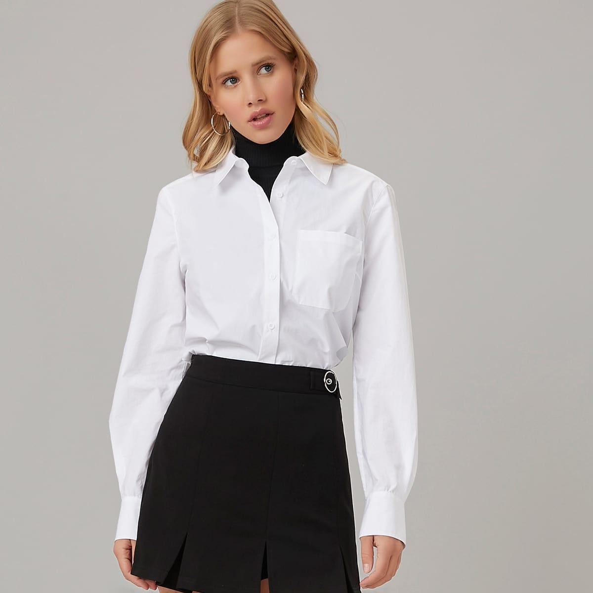 Блузка из 100% хлопка с карманом