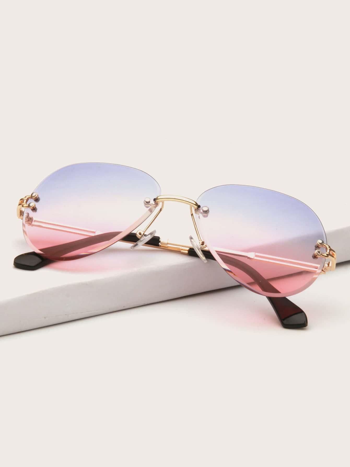 Ombre Lens Rimless Sunglasses thumbnail