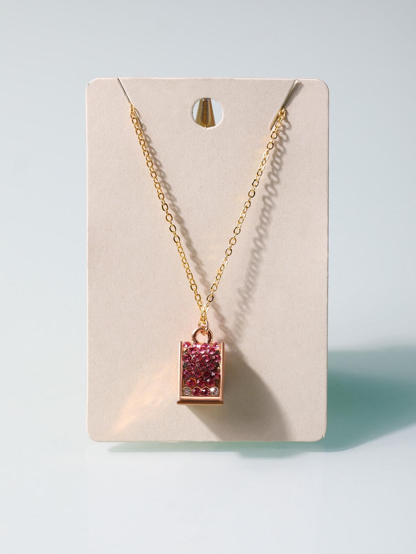 Rhinestone Decor Pendant Necklace thumbnail