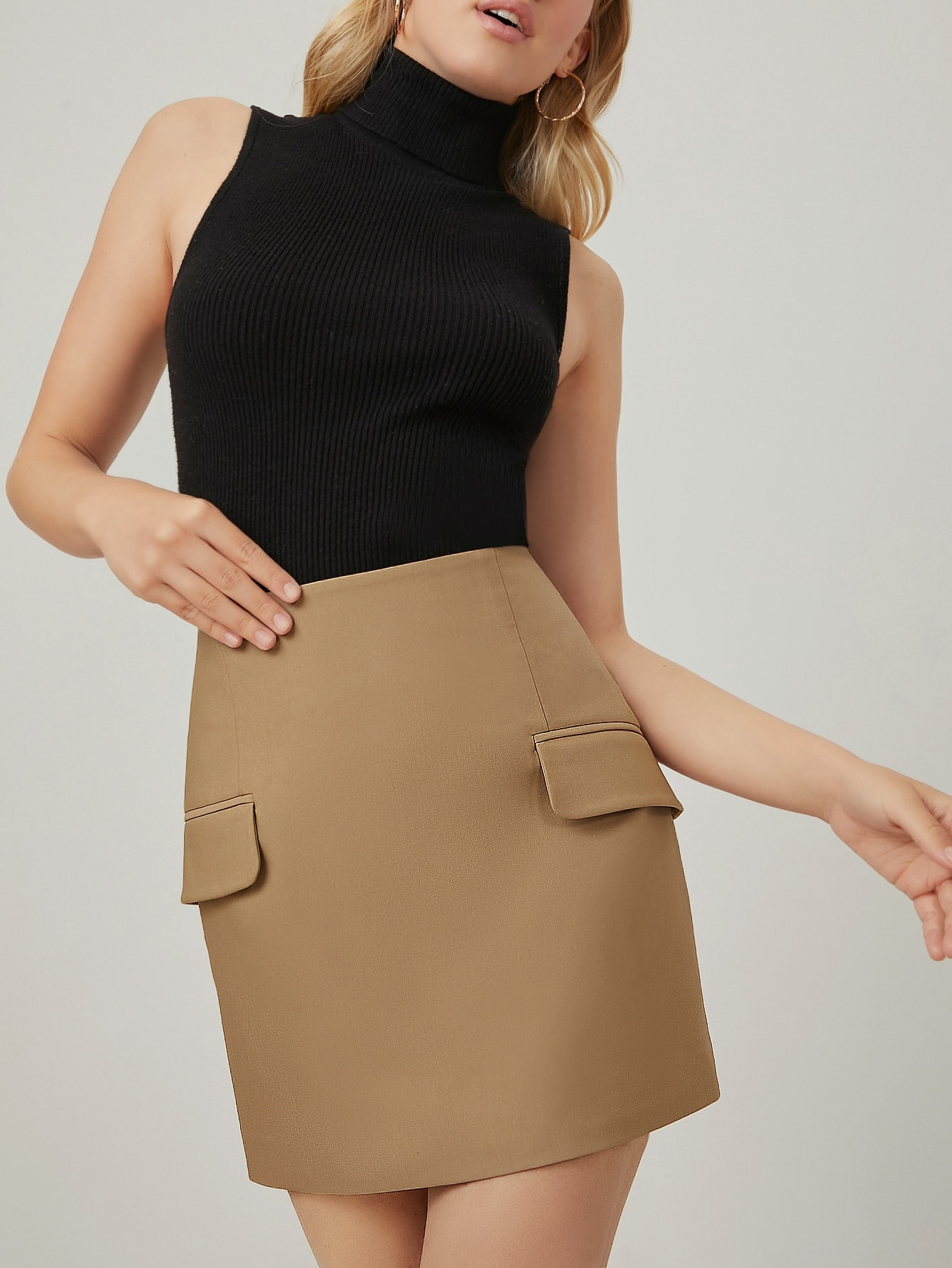 SPANDEX HIGH WAIST STRAIGHT SKIRT thumbnail