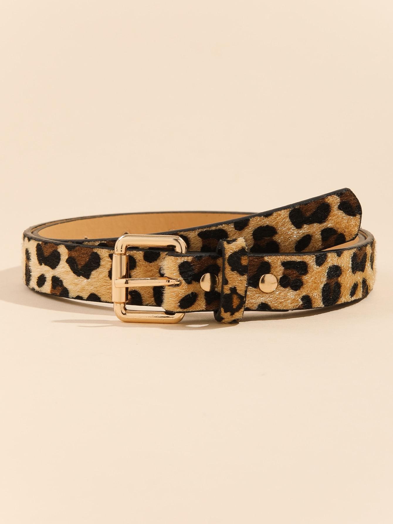 Metal Buckle Leopard Belt thumbnail